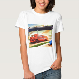 Retro Vintage Sci Fi Nazi German Bus of Future T-Shirt