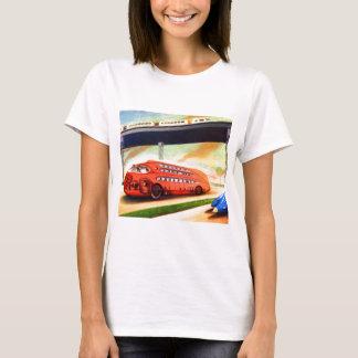 Retro Vintage Sci Fi Nazi German Bus of Future T-Shirt