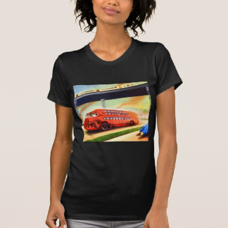 Retro Vintage Sci Fi Nazi German Bus of Future Tshirt