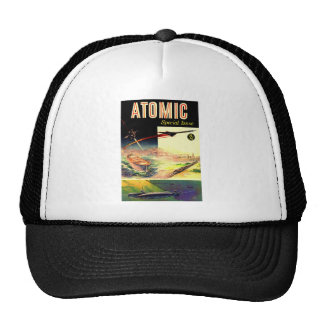 Retro Vintage Sci Fi Nuclear Atomic 60's Magazine Trucker Hat