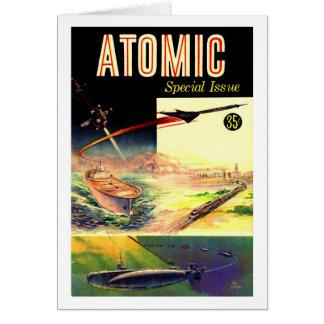 Retro Vintage Sci Fi Nuclear Atomic 60's Magazine Greeting Card