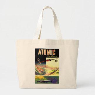 Retro Vintage Sci Fi Nuclear Atomic 60's Magazine Jumbo Tote Bag