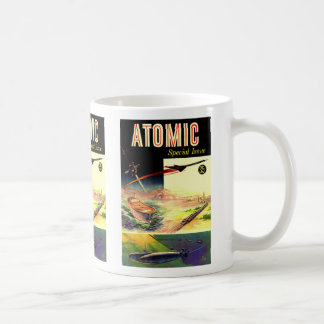 Retro Vintage Sci Fi Nuclear Atomic 60's Magazine Classic White Coffee Mug