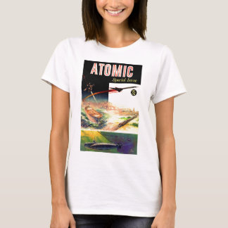 Retro Vintage Sci Fi Nuclear Atomic 60's Magazine T-Shirt