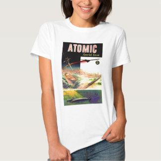 Retro Vintage Sci Fi Nuclear Atomic 60's Magazine Tee Shirt