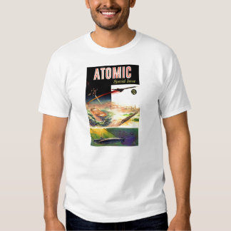 Retro Vintage Sci Fi Nuclear Atomic 60's Magazine Tees