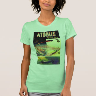 Retro Vintage Sci Fi Nuclear Atomic 60's Magazine T-shirt
