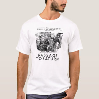 Retro Vintage Sci Fi 'Passage To Saturn' Story Art T-Shirt