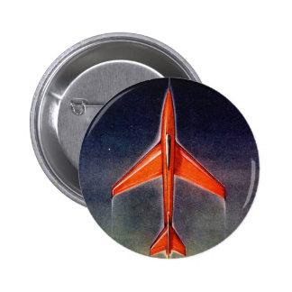 Retro Vintage Sci Fi Space Plane X-1 Pin