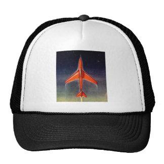 Retro Vintage Sci Fi Space Plane X-1 Hats
