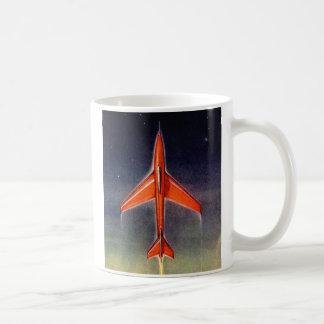Retro Vintage Sci Fi Space Plane X-1 Coffee Mug