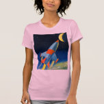 Retro Vintage Sci Fi 'Space Rocket to the Moon' Shirts
