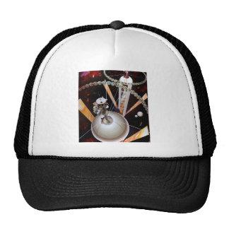 Retro Vintage Sci Fi 'Space Station Concept' Trucker Hat