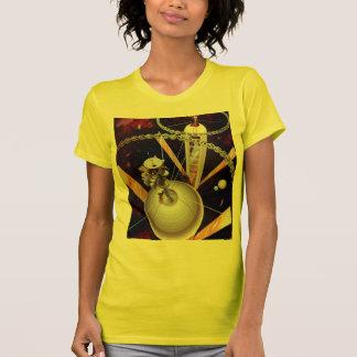 Retro Vintage Sci Fi 'Space Station Concept' Tshirt