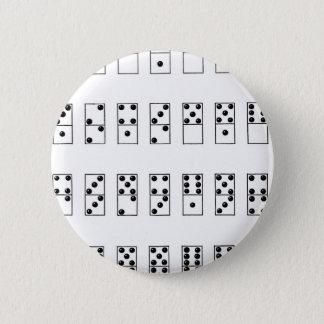retro vintage set of dominoes 6 cm round badge
