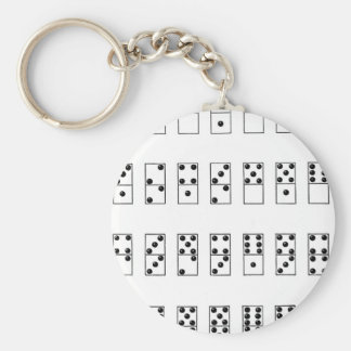 retro vintage set of dominoes key ring