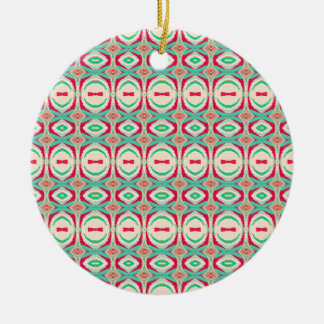 Retro Vintage Shapes Pattern Ornament