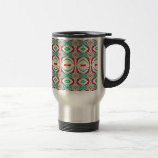Retro Vintage Shapes Pattern Coffee Mugs