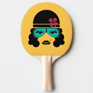 Retro Vintage Silhouette Ping Pong Bat Ping Pong Paddle