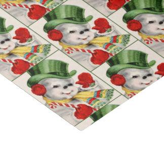 retro vintage snowman Christmas Holiday tissue Tissue Paper