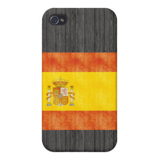 Retro Vintage Spain Flag iPhone 4 Cases