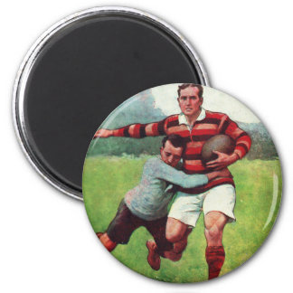 Retro Vintage Sports English Rugby Magnet