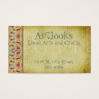 Retro Vintage Squares Business Card