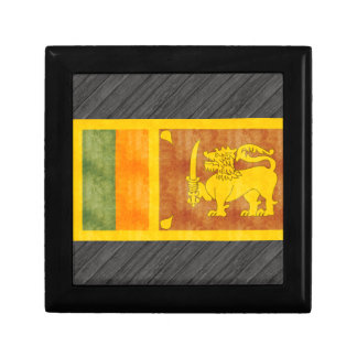 Retro Vintage Sri Lanka Flag Small Square Gift Box