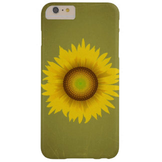 Retro Vintage Sunflower Design Barely There iPhone 6 Plus Case