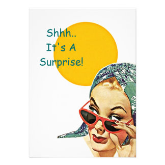 Retro Vintage Sunshine Surprise Party Invitation