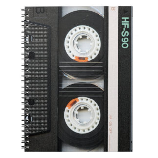 Retro Vintage Tape Cassette Recorder 70s 80s Notebook