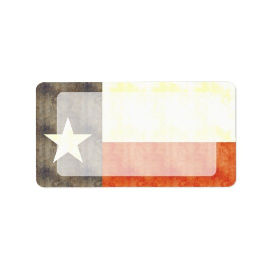 Retro Vintage Texas Flag Address Label