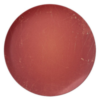 Retro Vintage Tomato Red Pattern. Fashion Color Party Plates