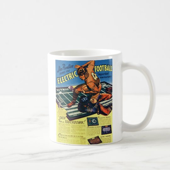 Retro Vintage Toy 'Electric Football Game' Coffee Mug