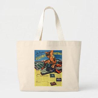 Retro Vintage Toy 'Electric Football Game' Jumbo Tote Bag