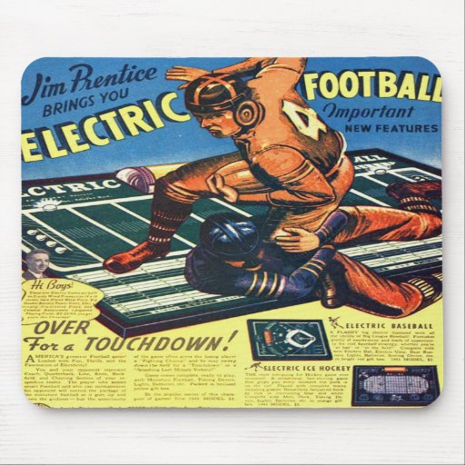 Retro Vintage Toy 'Electric Football Game' Mousepads
