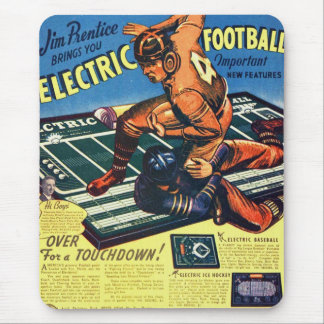 Retro Vintage Toy 'Electric Football Game' Mouse Pad