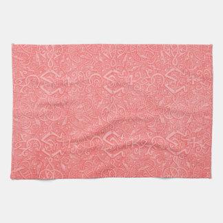 Retro Vintage Triskle Peach Kitchen Towels