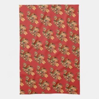 Retro/Vintage Valentine's Cherubs Tea Towel