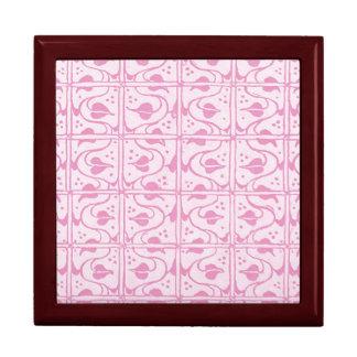 Retro Vintage Vines Pink White Gift Box