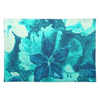 Retro Vintage Violets Blue Teal Placemats