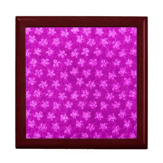 Retro Vintage Violets Magenta Gift Box