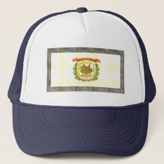 Retro Vintage West Virginia Flag Trucker Hat