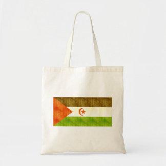 Retro Vintage Western Sahara Flag Canvas Bag