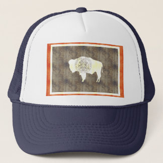 Retro Vintage Wyoming Flag Trucker Hat