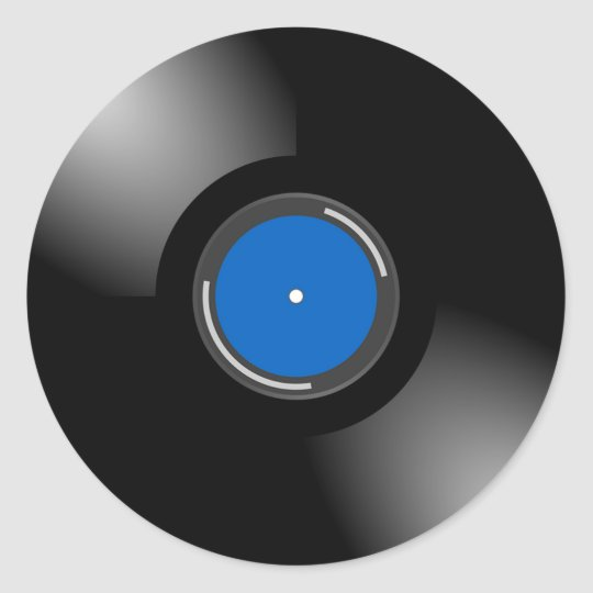 Retro Vinyl Album Record Stickers
