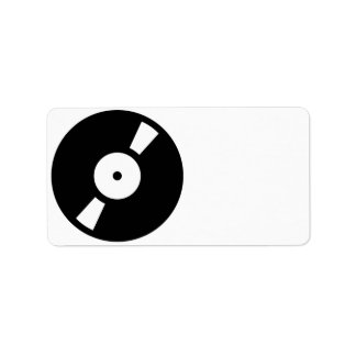 retro vinyl record address label