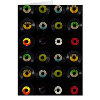Retro Vinyl Record Album Blank Card