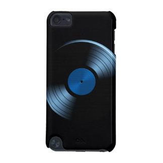 Retro Vinyl Record Album in Blue iPod Touch (5th Generation) Cover