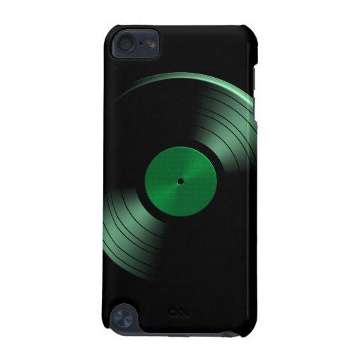 Retro Vinyl Record Album in Green iPod Touch (5th Generation) Cover